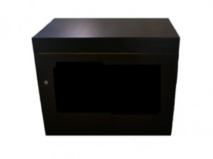 New Black Laminated Casino Cabinet with Lock